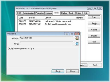 Headwind SMS communicator: SMS messaging example